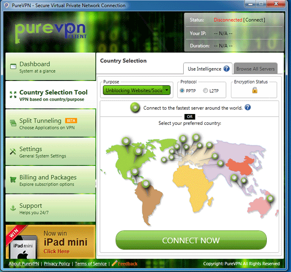 Software Features Country Selection Tool