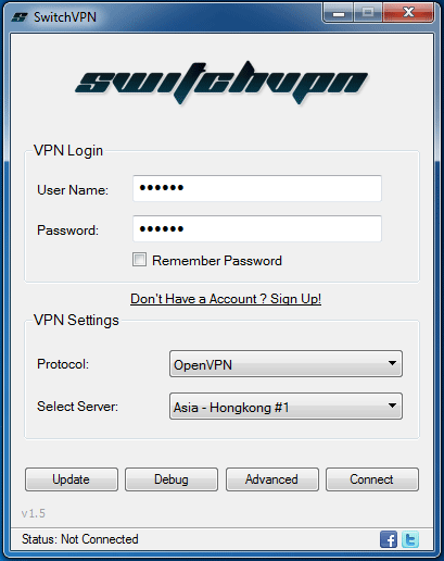 SwitchVPN review software